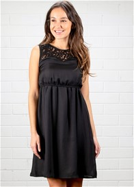 Dote - Gemma Lace Insert Nursing Dress in Black