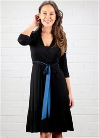 Dote - Mallory Nursing Shirt Dress in Black