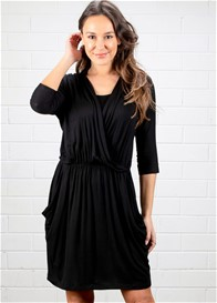 Dote - Megan Nursing Dress in Black