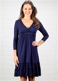 Dote - Navy Long Sleeve 9th Street Nursing Dress