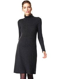 Esprit - A-line Turtleneck Knit Dress