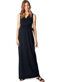 Esprit - Beaded Neckline Maxi Dress in Black - ON SALE
