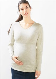 Esprit - Fitted Cotton Knit Jumper in Pale Grey