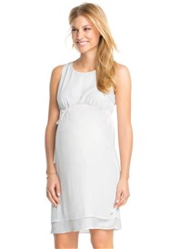Esprit - Flowing Chiffon Party Dress in Off-White
