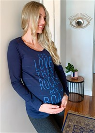 Esprit - Love Rocks My Boat Organic Cotton Tee in Navy