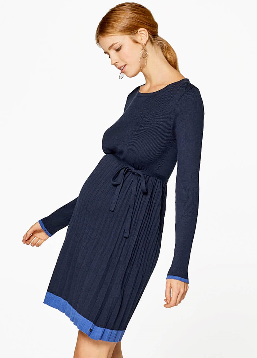 Queen Bee Pleated Knit Maternity Dress by Esprit