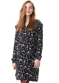 Esprit - Viscose Nursing Dress in Black Floral