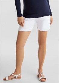 Esprit - White Denim Over Bump Shorts