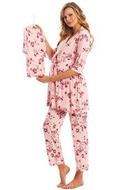 Everly Grey - Analise Mommy & Me PJ Gift Set in Pink Blossom