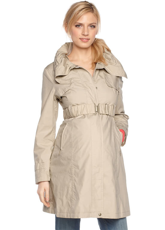 Sand Maternity Parka Trench Coat by Esprit