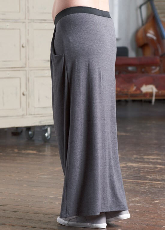 Zara Pocket Grey Maxi Maternity Skirt by Floressa Clothing