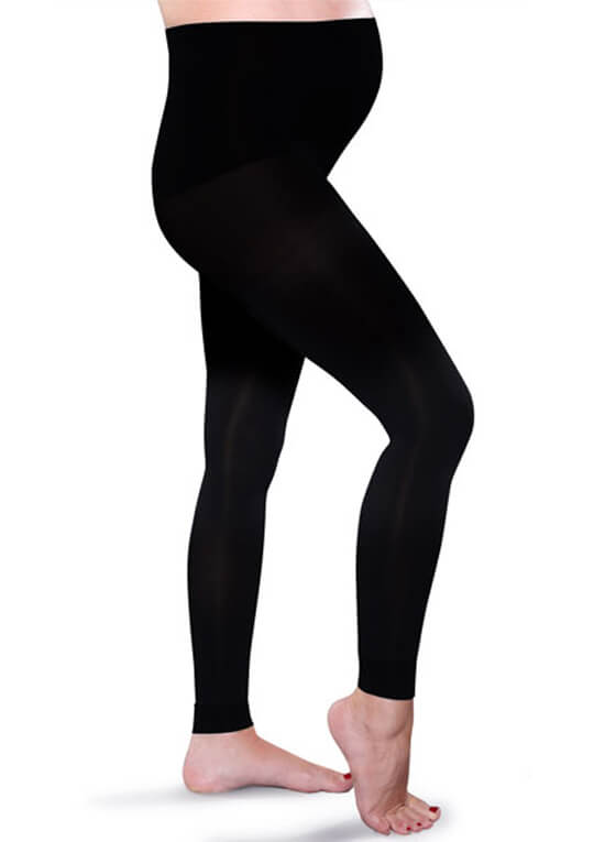bcac3c136f01c Maternity Light Gradient Compression Leggings in Black by Preggers