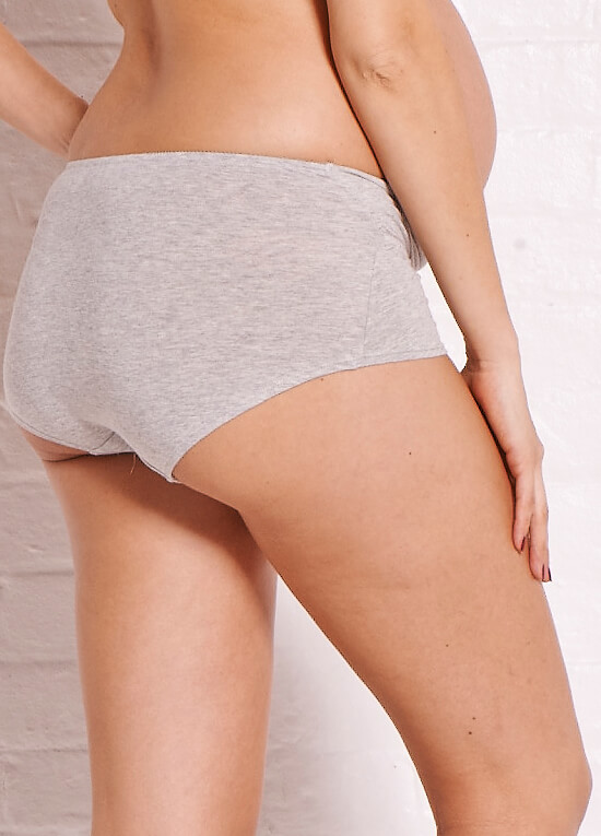 Basic Maternity Underwear Shorts in Grey by Noppies