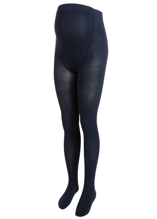 Winter Knit Maternity Tights in Dark Blue by Noppies