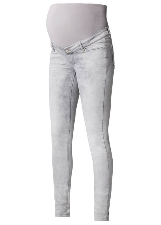 Geke Grey Skinny Maternity Jeans by Supermom
