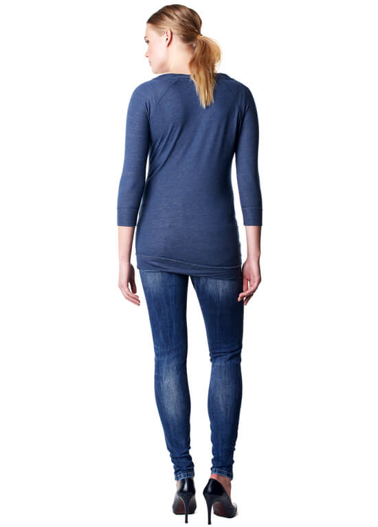 Nia Adventure Maternity Sweatshirt in Blue by Noppies