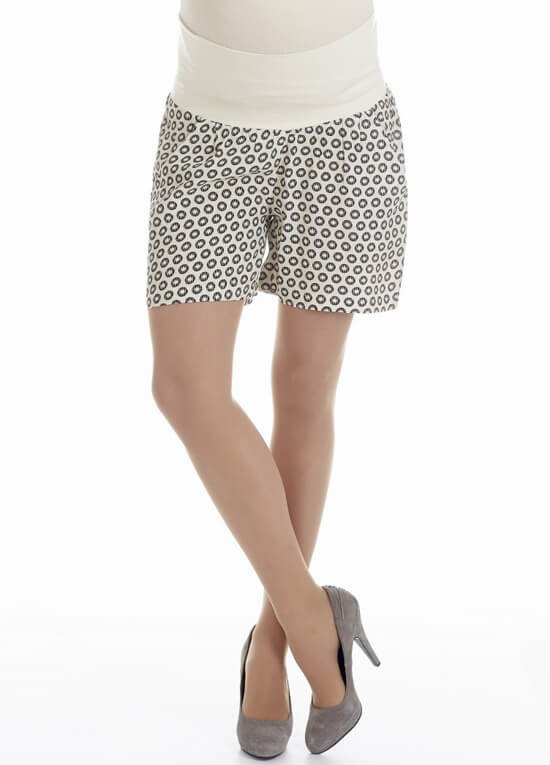 Circle Print Maternity Shorts By Queen Mum
