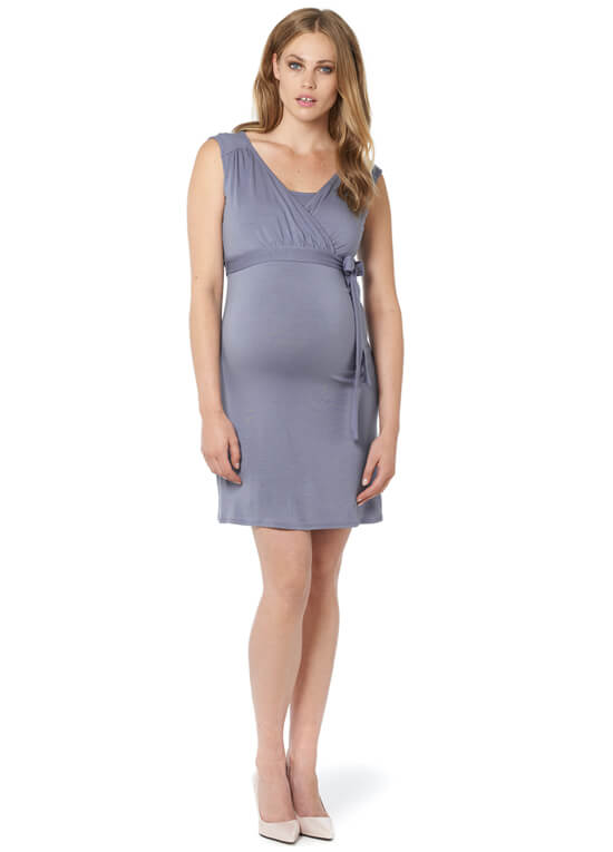 Lara Maternity Nursing Dress in Lavender Grey by Noppies