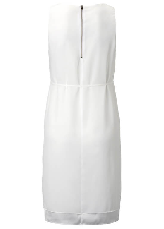 Flowing Chiffon Maternity Party Dress in Off-White by Esprit