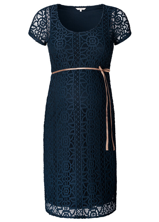Elise Lace Maternity Dress in Dark Blue by Noppies