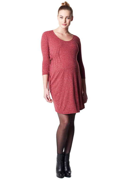 Elli Warm Red Melange Maternity Dress by Noppies