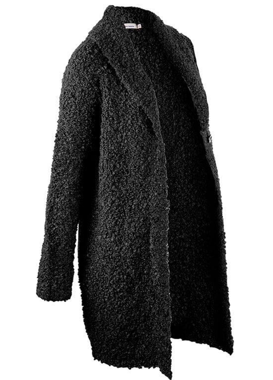 Boucle Knit Maternity Cardigan in Black by Queen mum