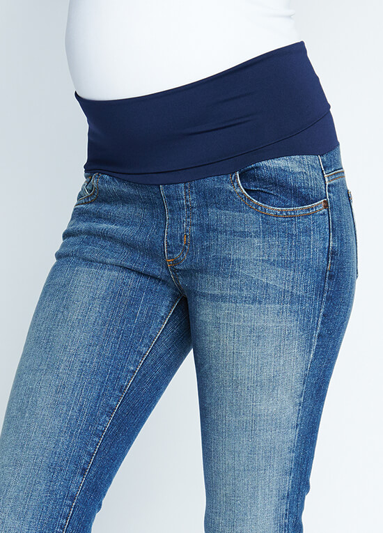 Belly Support Skinny Maternity Jeans by Maternal America