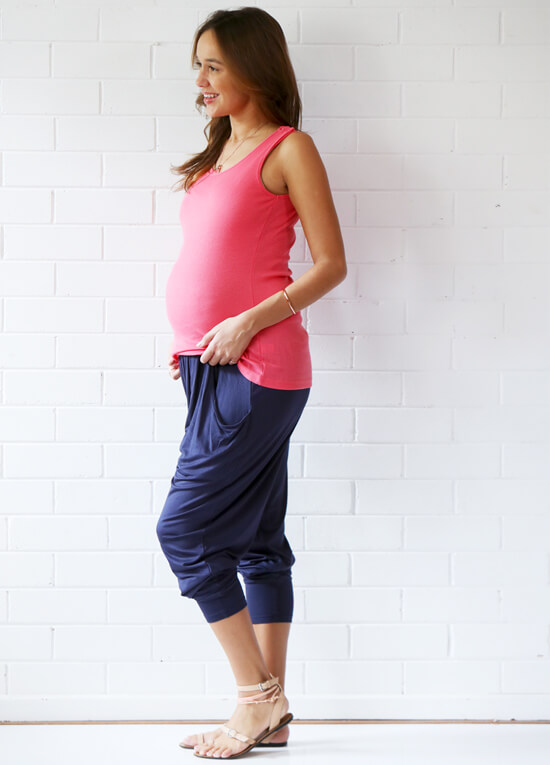Floressa - Kory Pleated Slouchy Maternity Pant | Queen Bee