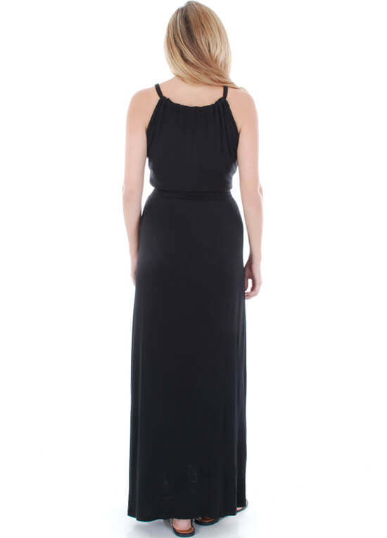 Harmony Maternity Maxi Dress In Black By Everly Grey
