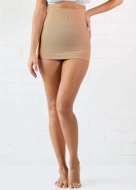 Postpartum Recovery Support Belly Band in Nude by Queen Bee