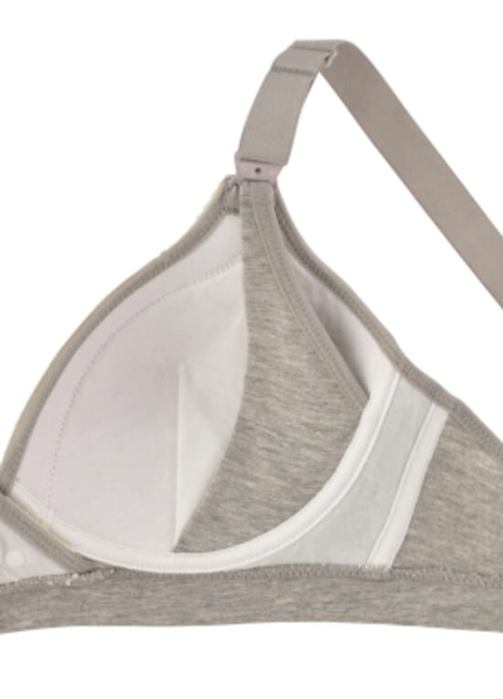 Galina Maternity Nursing Bra in Grey by Queen Bee