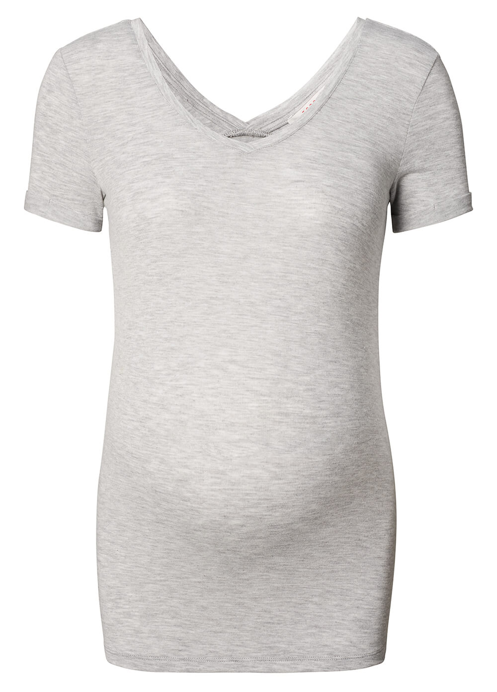 Double V-Neck Maternity T-Shirt in Grey by Esprit