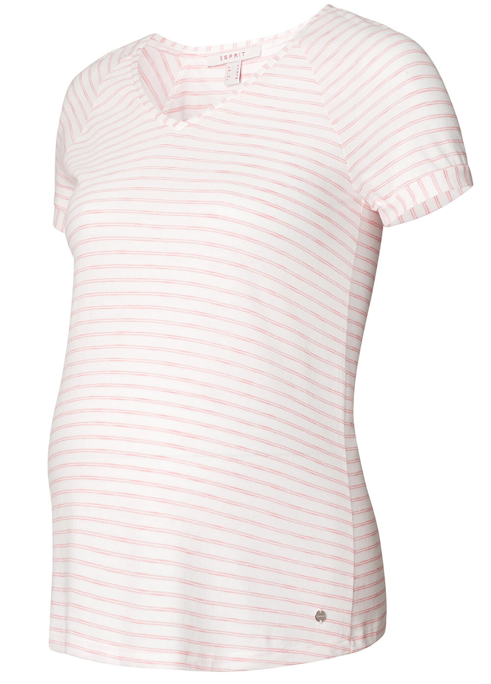 Raglan Maternity T-Shirt in Pink Stripes by Esprit
