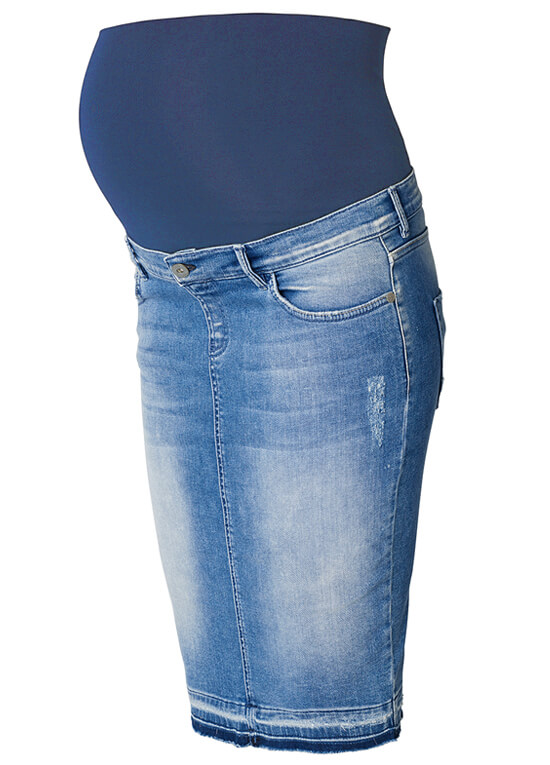 Joy Distressed Maternity Denim Skirt in Light Wash by Noppies