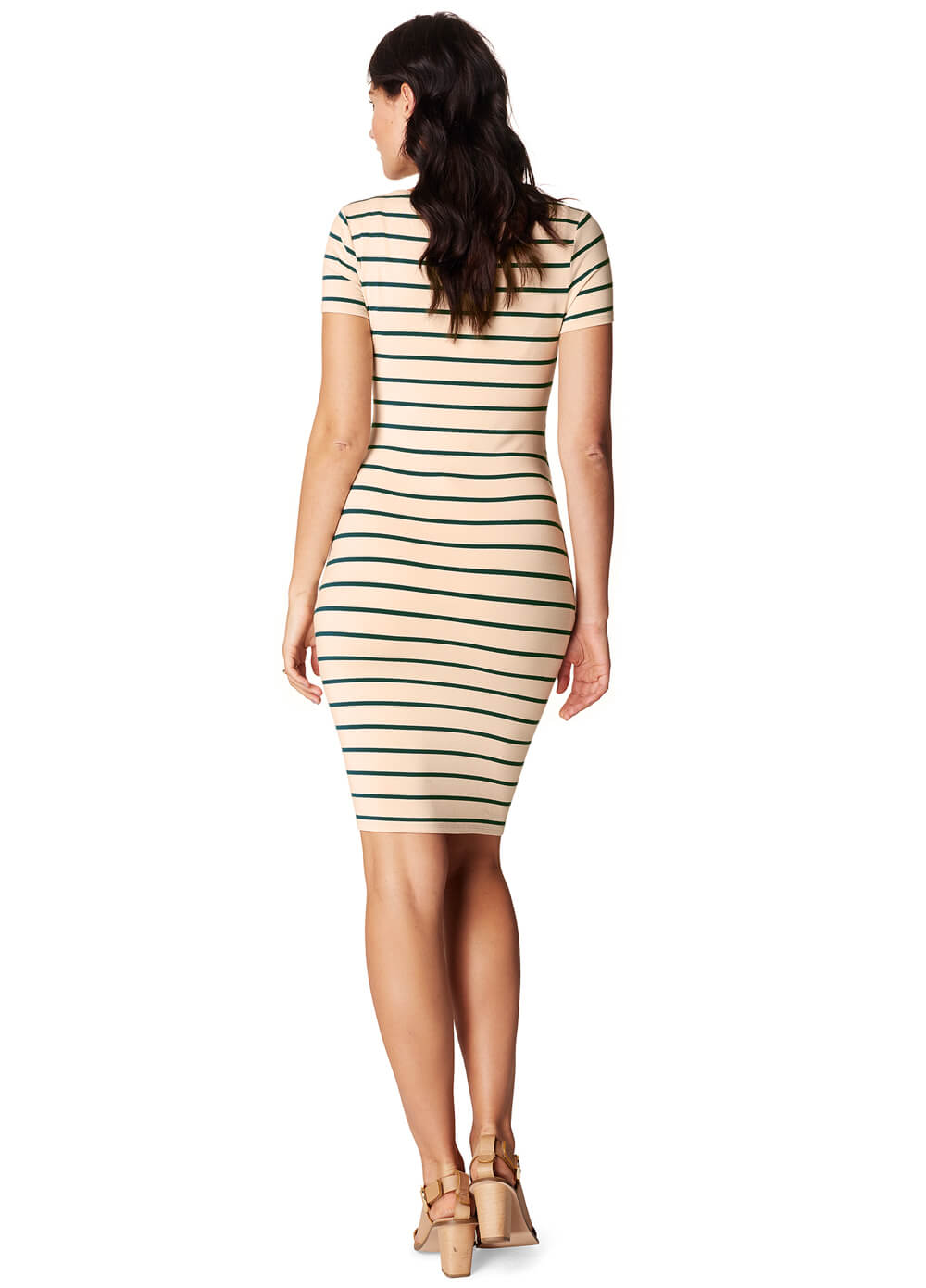 Lotus Maternity Dress in Green Stripes by Noppies