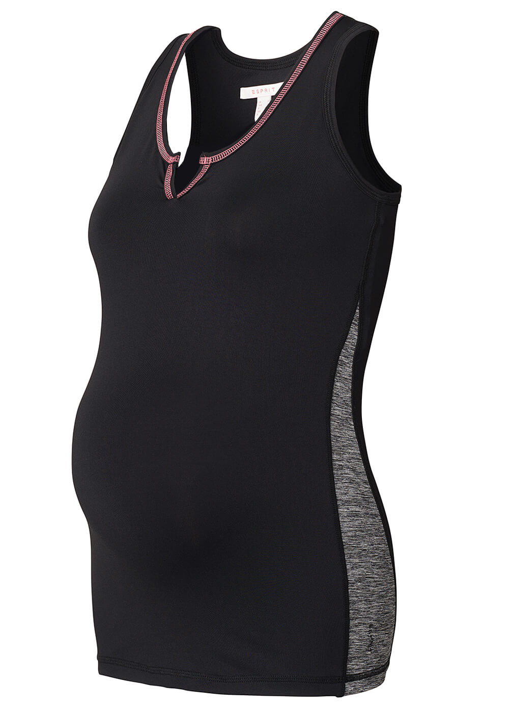 Maternity Active Sports Tank Top in Black by Esprit