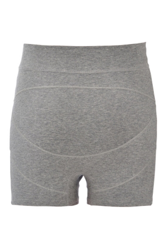 Ronnica Organic Cotton Maternity Shorts in Grey by Queen Bee