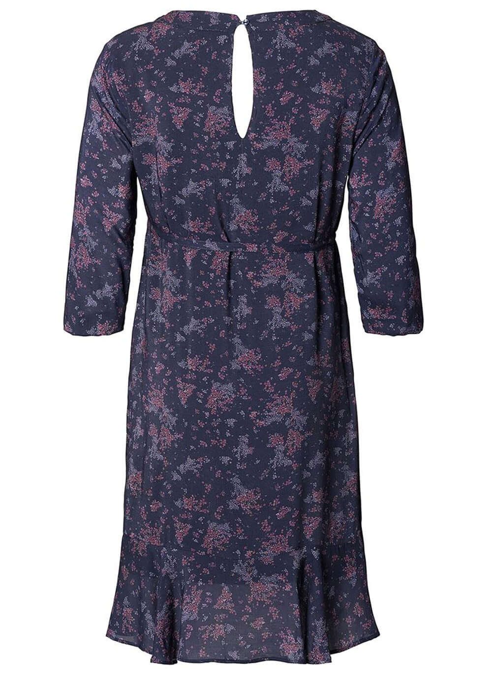 Mulberry Floral Maternity Ruffle Dress by Esprit