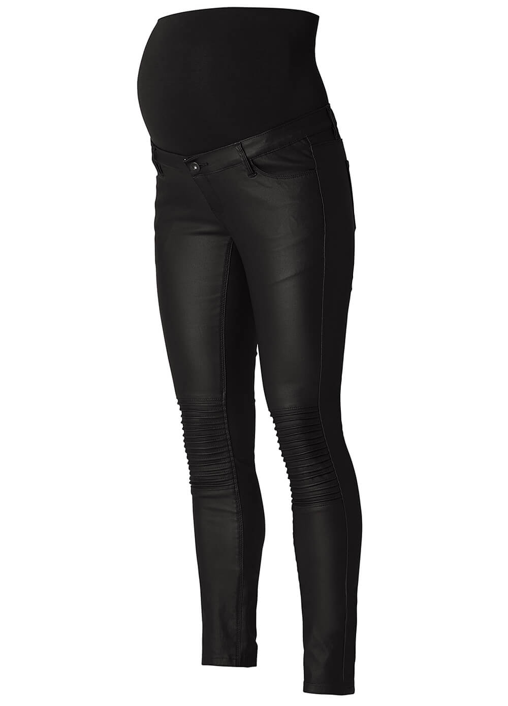 Jessie Coated Skinny Black Maternity Jeans by Noppies