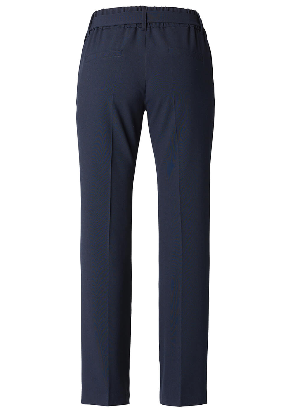 Belted Navy Straight Leg Maternity Trousers by Esprit