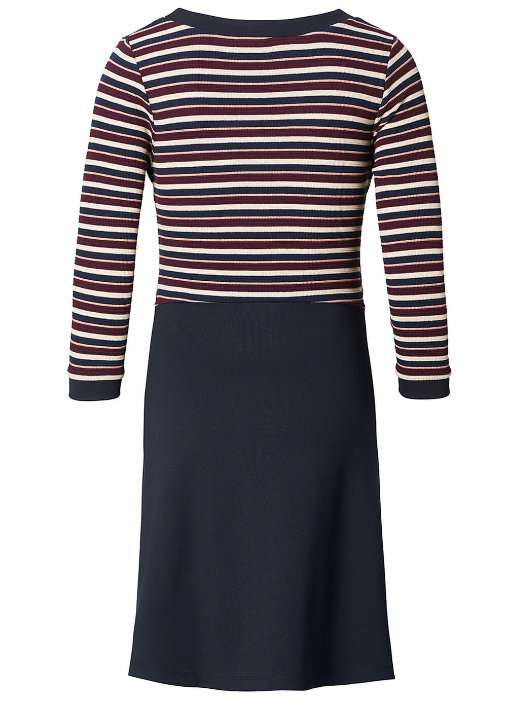 Layered Maternity Nursing Dress in Navy Stripes by Queen mum