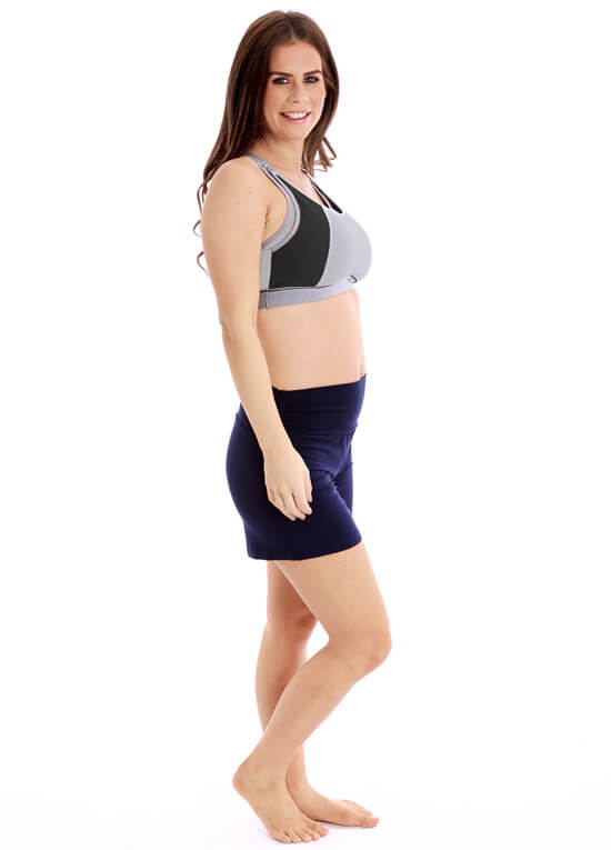 Maternity Nursing Sports Bra in Grey/Black by La Leche League