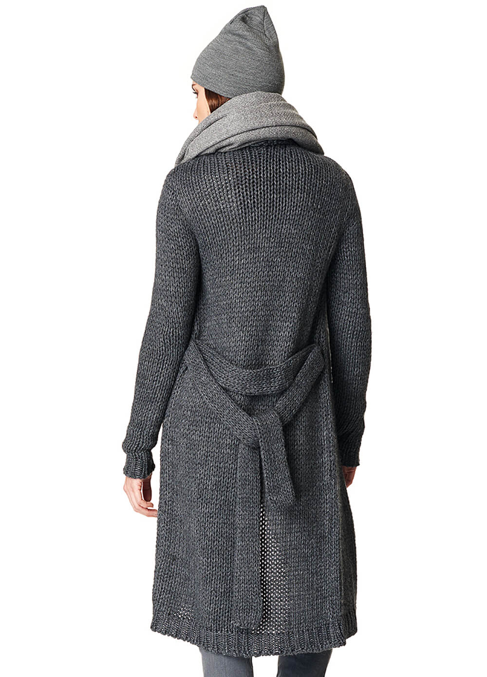 Hazel Maternity Knit Long Cardigan in Grey by Noppies