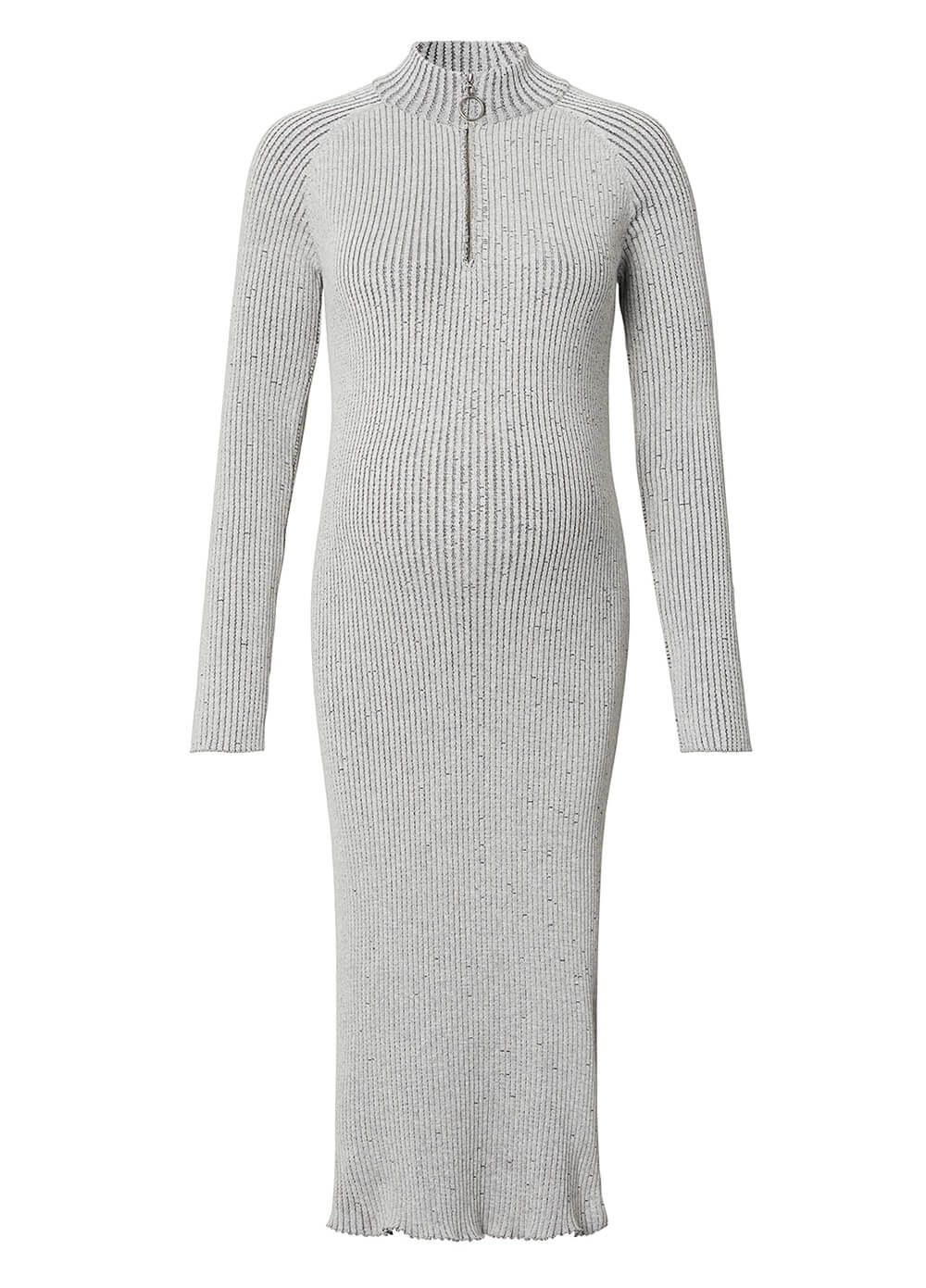 Ribbed Knit Maternity Tube Dress in Grey by Supermom
