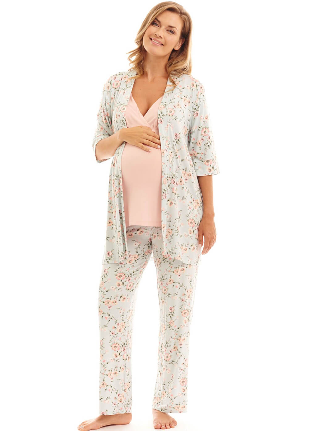 Analise Mommy & Me Maternity PJ Gift Set in Cloud Blue by Everly Grey