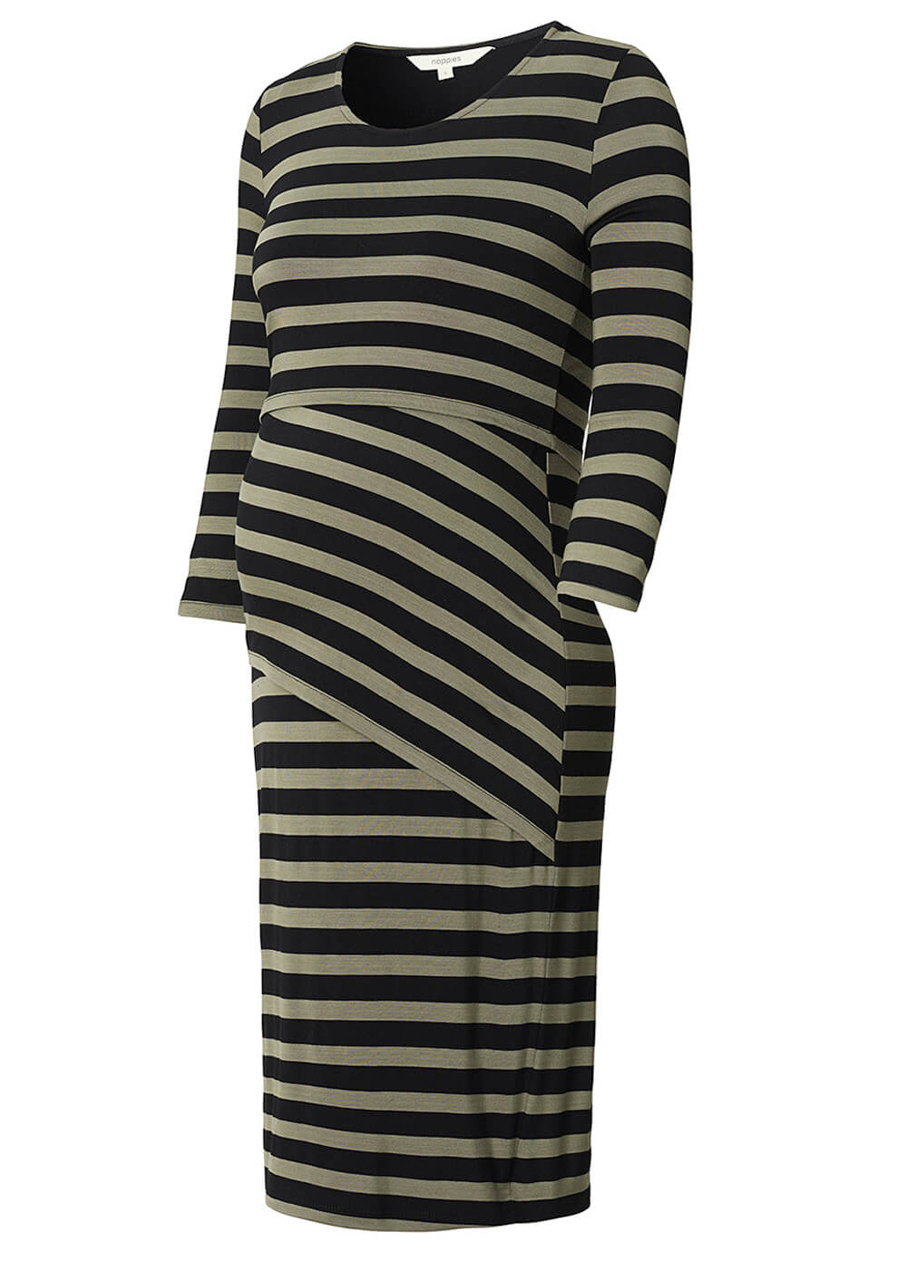Heidi Maternity Nursing Dress in Army Stripes by Noppies