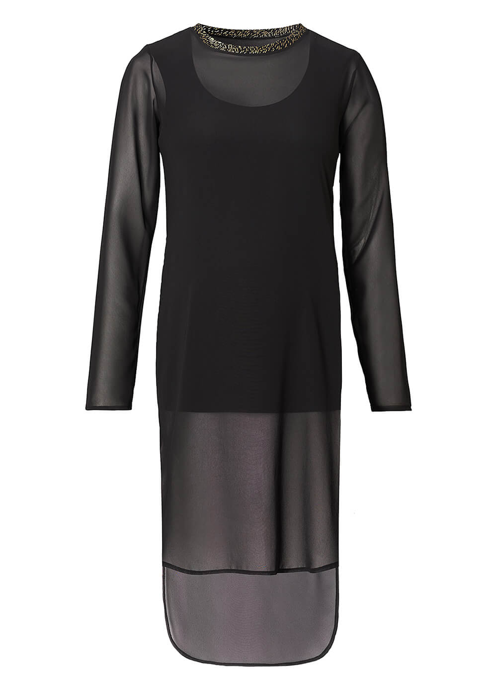 Layered Chiffon Maternity Tunic in Black by Supermom