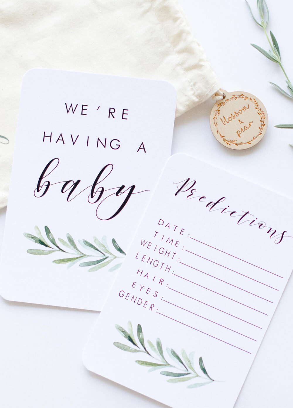 Pregnancy Milestone Cards in Lush by Blossom & Pear