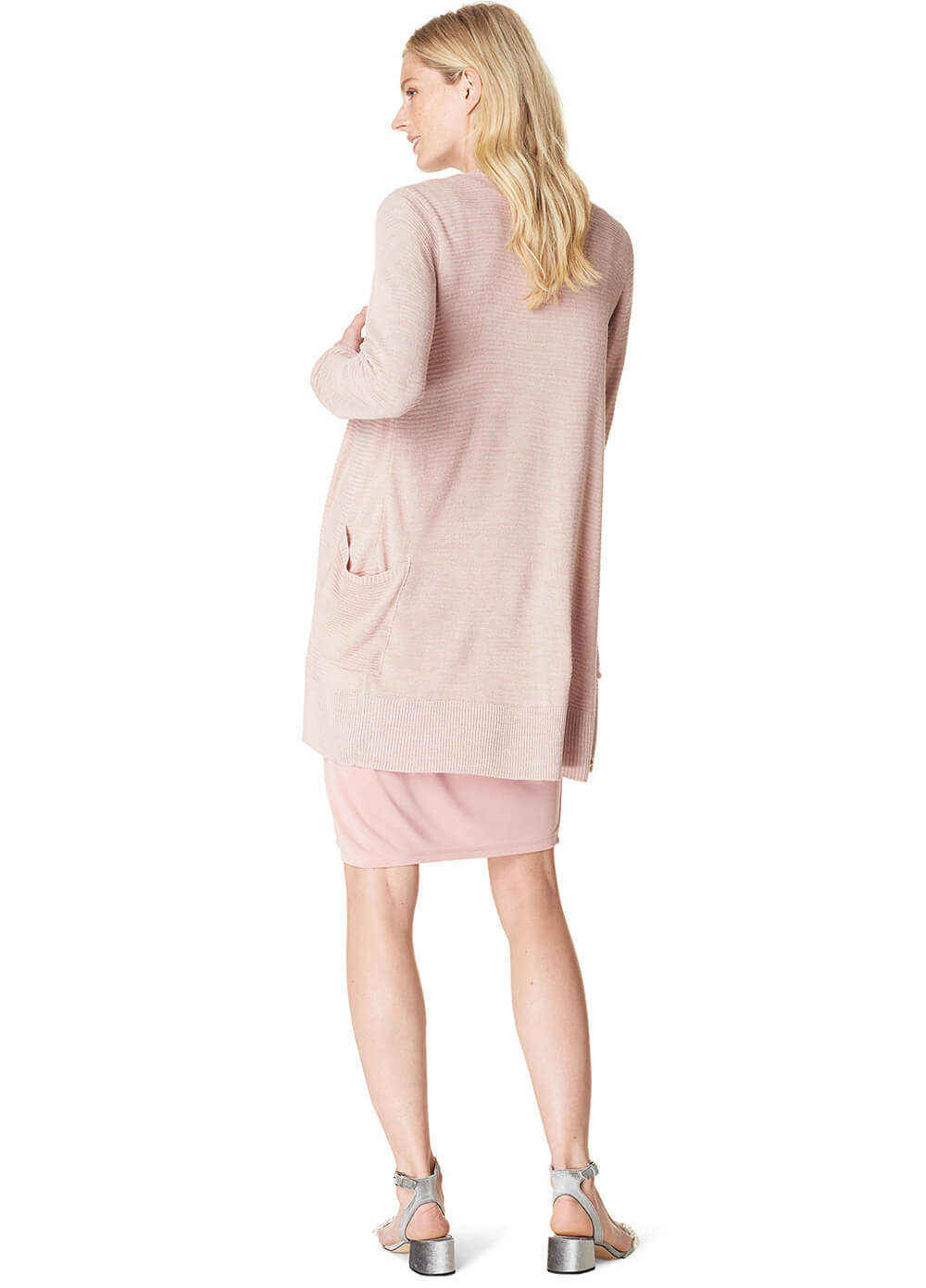 Alexis Ribbed Knit Maternity Cardigan in Blush by Noppies