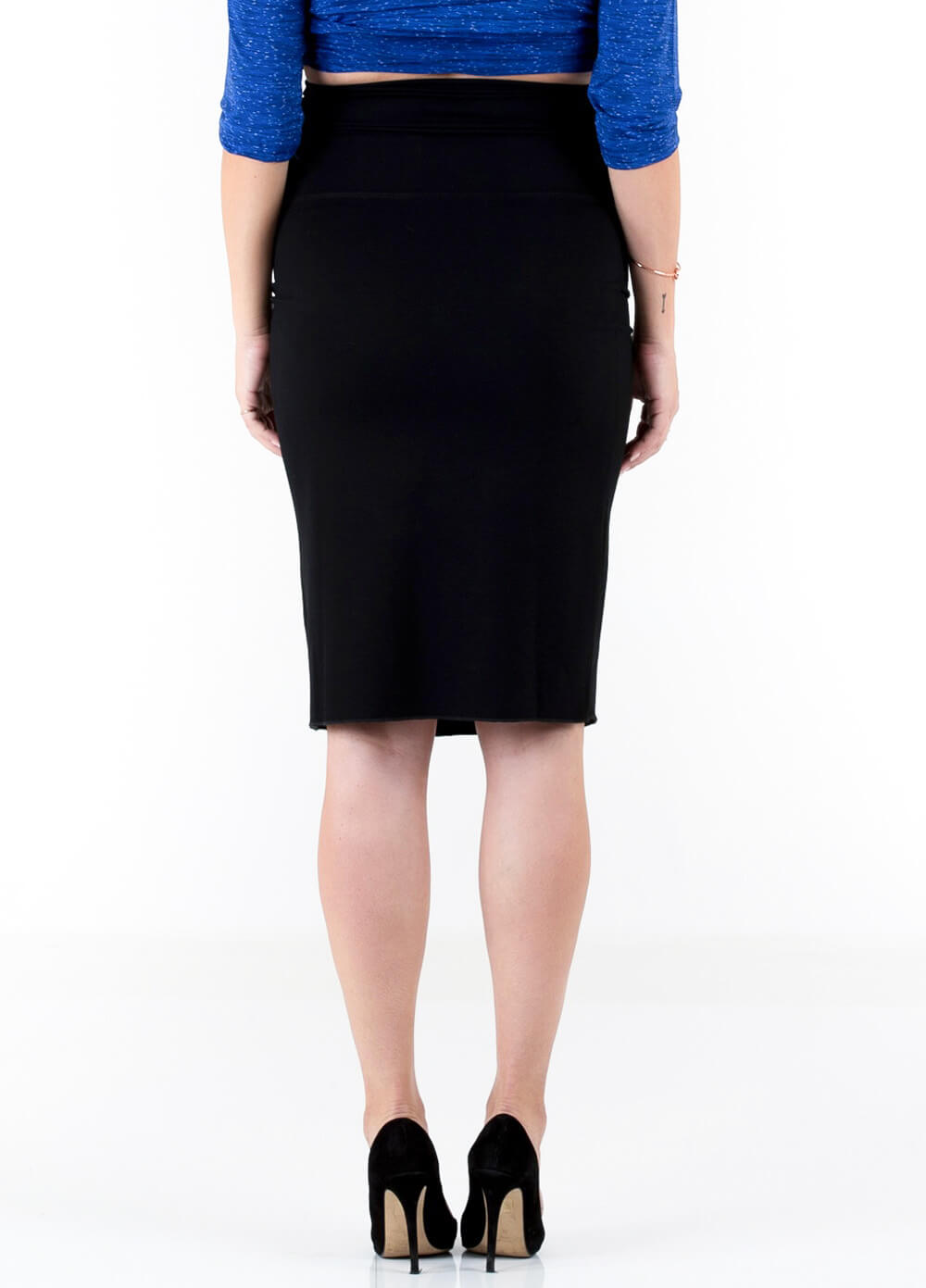 Floressa - Laci Ponte Black Maternity Pencil Skirt | Queen Bee